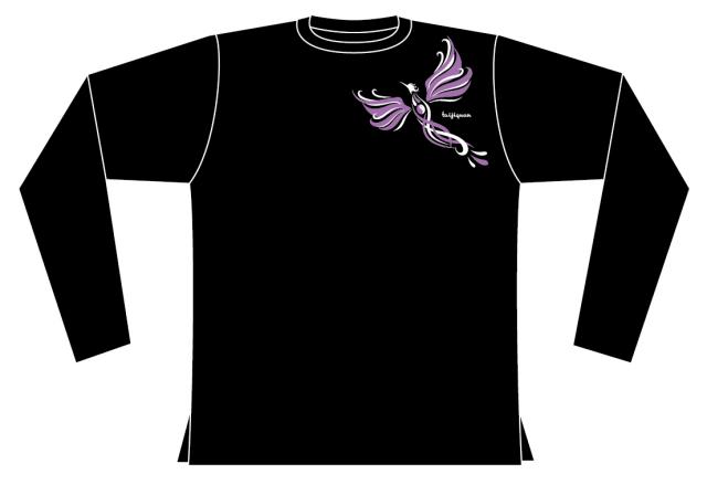 Taijilogo Tシャツ#H202L-rd (ハイグラ、長袖、丸首)