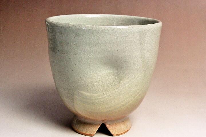 萩焼(伝統的工芸品)フリーカップ刷毛姫呉器えくぼ