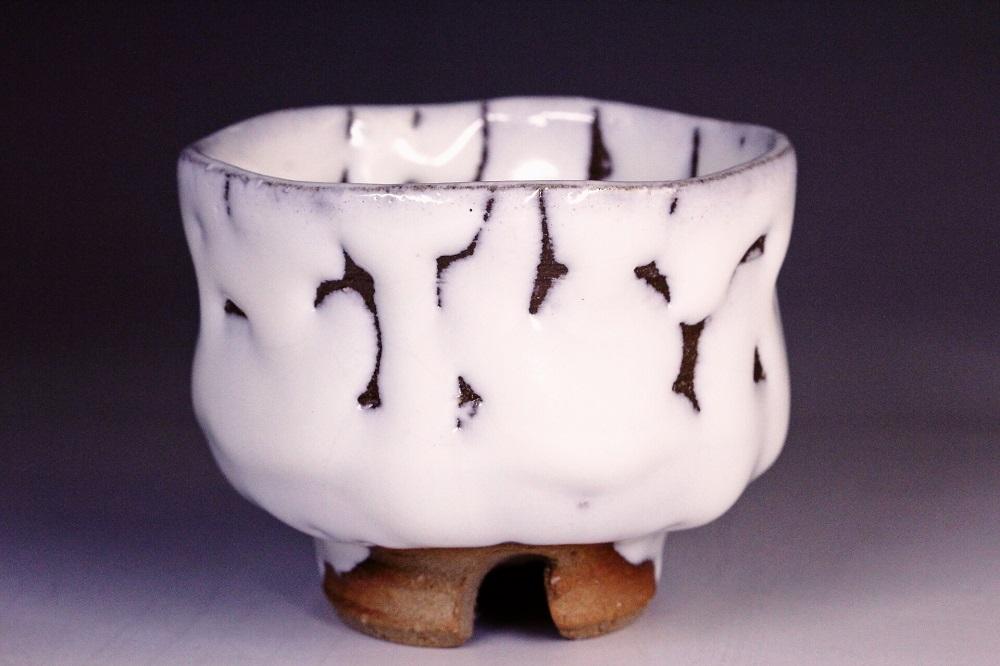 萩焼(伝統的工芸品)ぐい呑鬼白松胴締
