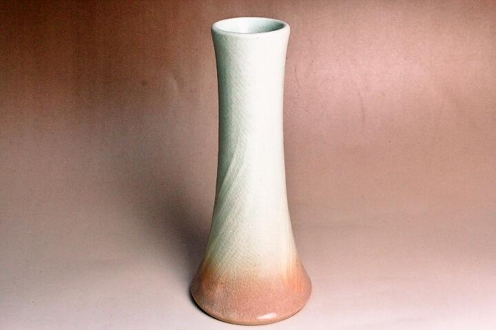 萩焼(伝統的工芸品)花入刷毛姫円錐形