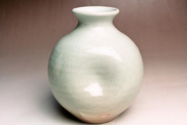 萩焼(伝統的工芸品)ミニ花入刷毛姫丸えくぼ