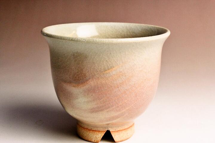 萩焼(伝統的工芸品)汲出し湯呑刷毛姫朝顔小