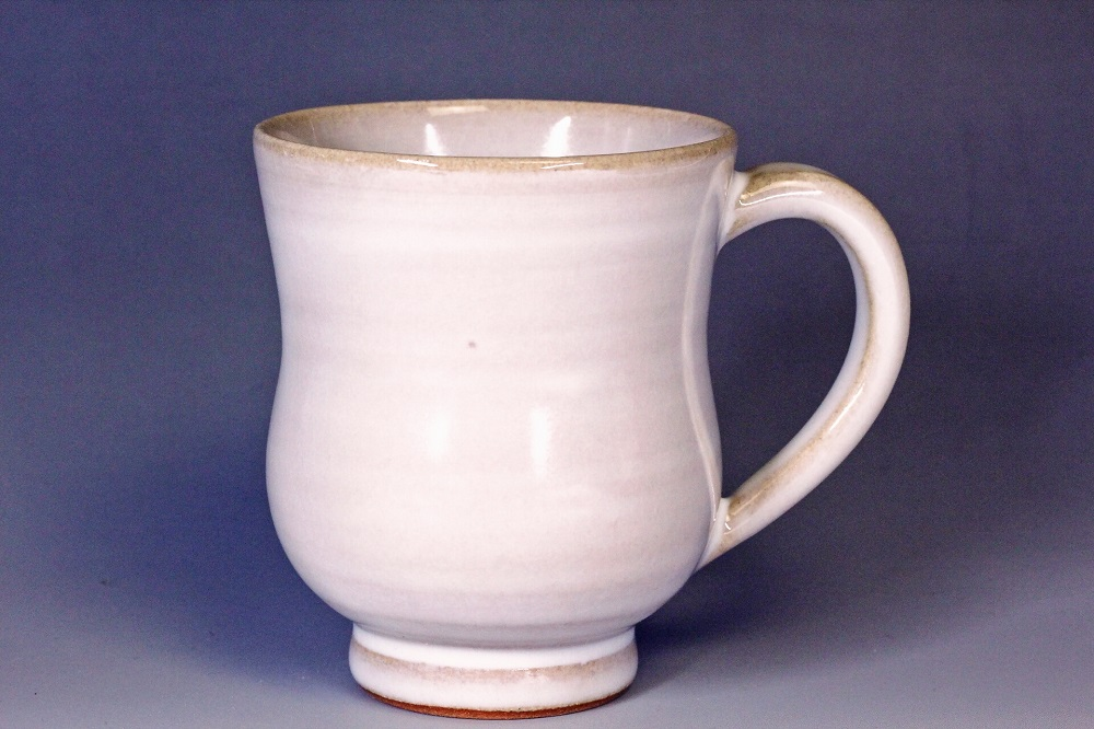 萩焼(伝統的工芸品)マグカップ小白姫胴締