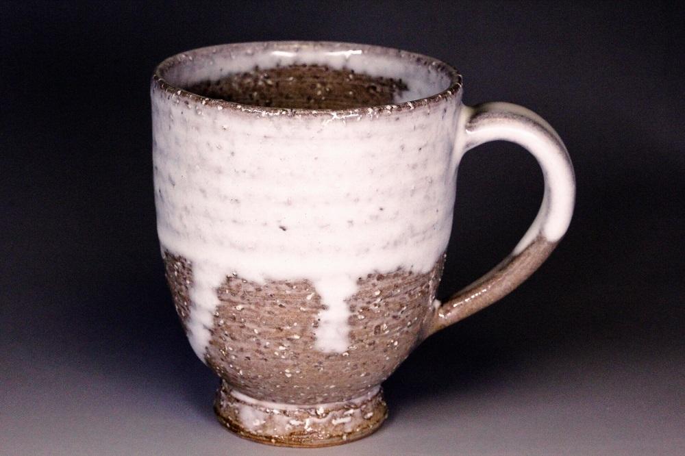 萩焼(伝統的工芸品)マグカップ小白萩掛分け呉器