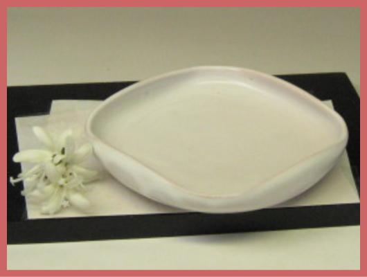 萩焼(伝統的工芸品)銘々皿白姫四方