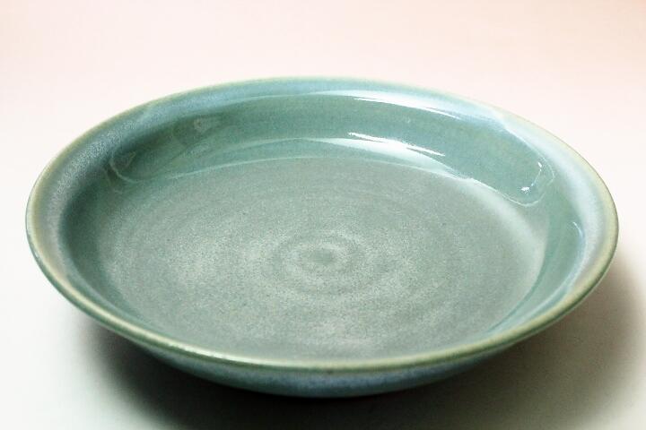 萩焼(伝統的工芸品)サラダボウル淡青釉朝顔
