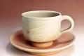萩焼(伝統的工芸品)カップ&ソーサ刷毛姫筒