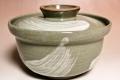 萩焼(伝統的工芸品)蓋付どんぶり刷毛青丸