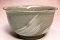 萩焼(伝統的工芸品)どんぶり刷毛青丸