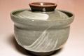 萩焼(伝統的工芸品)蓋付碗刷毛青丸