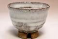 萩焼(伝統的工芸品)ぐい呑白萩掛分け井戸形