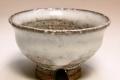 萩焼(伝統的工芸品)ぐい呑白萩掛分け柿蒂