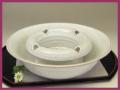 萩焼(伝統的工芸品)灰皿白萩端反