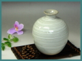 伝統的工芸品萩焼・花入刷毛青丸・簡易包装対応