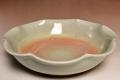 萩焼(伝統的工芸品)平鉢刷毛姫輪花