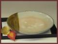 萩焼(伝統的工芸品)平皿掛分け飴釉化粧丸