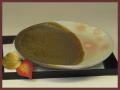 萩焼(伝統的工芸品)平皿掛分け鉄釉御本手丸