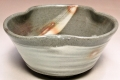 萩焼(伝統的工芸品)小鉢刷毛青三つ葉