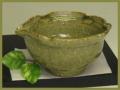 萩焼(伝統的工芸品)小鉢緑星釉木の葉
