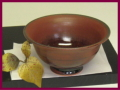 萩焼(伝統的工芸品)小鉢鉄赤釉朝顔