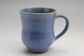 萩焼(伝統的工芸品)マグカップ青釉胴締