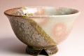 萩焼(伝統的工芸品)飯碗掛分け(御本手と鉄釉)朝顔