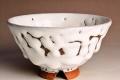 萩焼(伝統的工芸品)飯碗鬼白末広(松クラス)