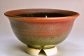 萩焼(伝統的工芸品)飯碗鉄赤釉朝顔
