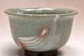 萩焼(伝統的工芸品)汁碗刷毛青丸(ミニ)
