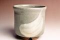 萩焼(伝統的工芸品)小湯呑刷毛青筒