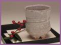萩焼(伝統的工芸品)湯呑鬼萩胴締