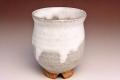 萩焼(伝統的工芸品)湯呑白萩掛分丸