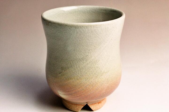 萩焼(伝統的工芸品)湯呑刷毛姫銅締