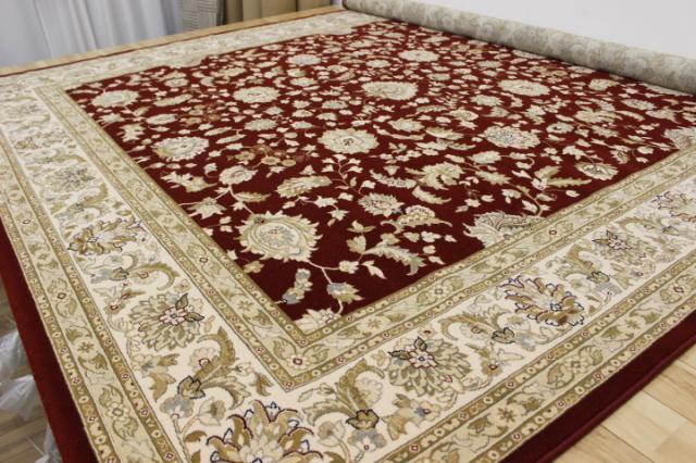 在庫限り見切ります!憧れの最高峰ベルギー製ウール100% 604,800ノット絨毯/カーペット 【品名 ダイヤモンド】 約4.5畳 250×250cm