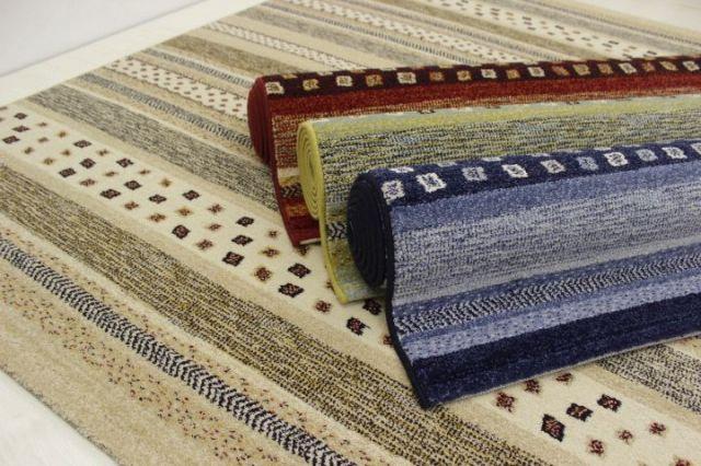 遊牧デザイン!ベルギー製 ウィルトン織り カーペット ラグ 絨毯 ギャベ柄 【品名 ボルダー】 約3畳 200×250cm
