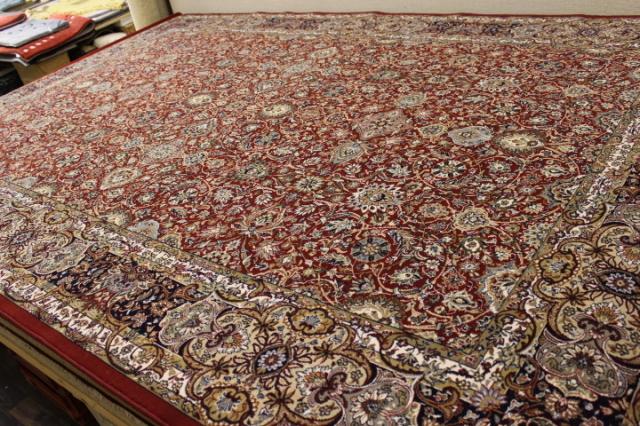 憧れの最高峰!ベルギー製ウール100%・90万ノット絨毯/カーペット【ブリリアント】 約1.5帖 150×200cm