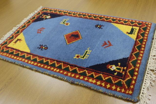 現品大放出 約50%OFF以上!インド製手織り緞通 ウール100% 玄関マット カーペット 【品名 インド緞通/Bグレード品】 約60×90cm