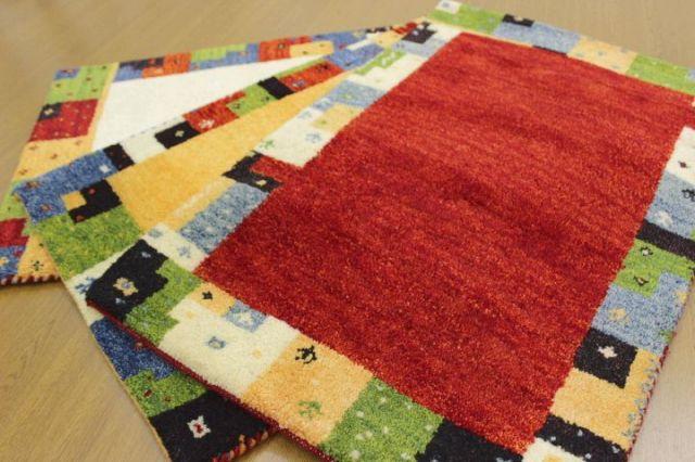 現品大放出 約50%OFF以上!インド製手織り緞通 ウール100% 玄関マット カーペット 【品名 インド緞通/Aグレード品】 サイズ 60×90cm