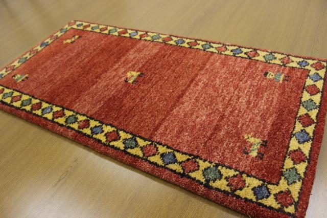 現品大放出 約50%OFF以上!インド製手織り緞通 ウール100% 玄関マット カーペット 【品名 インド緞通/Aグレード品】 サイズ 約70×120cm