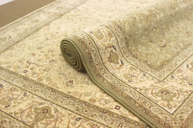 世界最高級グレードの廃盤品が驚きの価格!ベルギー製ウール&シルク60万ノット 絨毯 じゅうたん カーペット 【品名 スラバヤ廃盤品】 約6畳 240×340cm