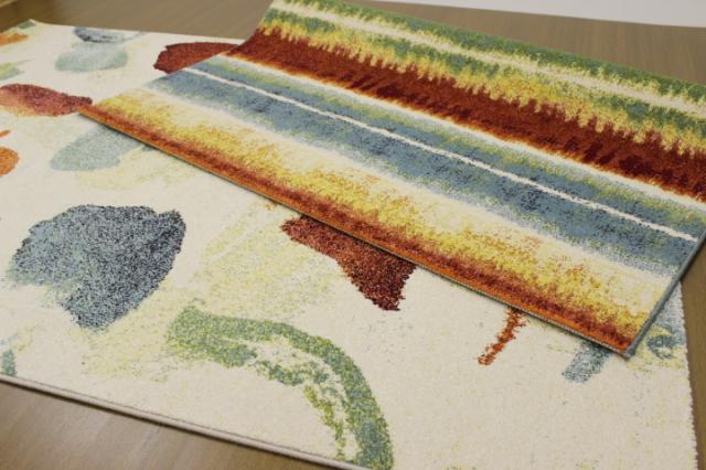メーカー閉業品が激安!ポップアートデザイン 数量限定品 ベルギー製 ウィルトン織り ラグ カーペット 絨毯 じゅうたん 【品名 キャンバス&クレール】 約3畳 200×250cm