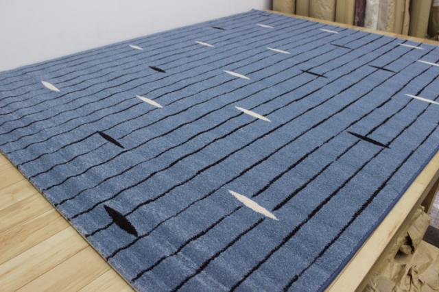 驚き 半額以上の安さ!北欧モダンラグ ベルギー製ウィルトン織り じゅうたん 【品名 カフス】 約3畳 200×250cm