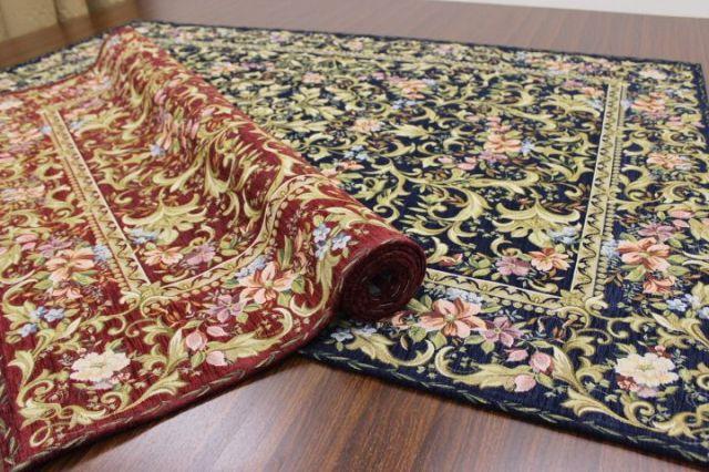 ついに廃盤!ゴブラン織りの最高級グレード品 約50%OFF以上 極美品 ベルギー製 シェニール ゴブラン織り カーペット ラグ 【品名 ルーバン】 約1.5畳 140×200cm