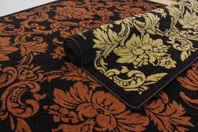 数量限定 スペシャルデザイン ウィルトン織り カーペット ラグ  【品名 アラベスク】 約3畳 200x250cm
