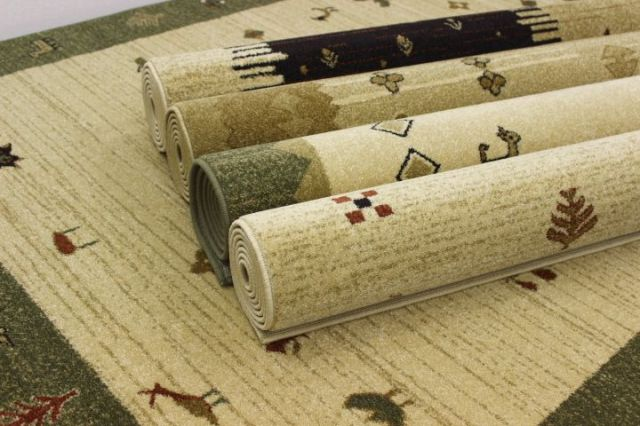 超お値打ち品!人気のギャッベ柄 ウィルトン織り カーペット ラグ 【品名 ギャッベシリーズ】 約3畳 約200×250cm