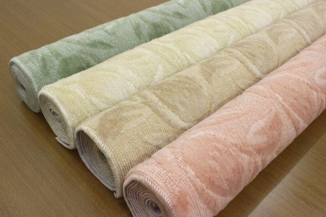 日本製 カーペット 絨毯 じゅうたん 防ダニ 抗菌 花柄 フラワー 人気 【品名 ベルフラワー】 江戸間 6畳 261×352cm