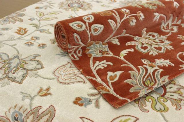 新柄が早くも安い!ベルギー製 ウィルトン織り フラワー カーペット 絨毯 じゅうたん 【品名 オプティミスト/コジー】 約3畳 200×250cm