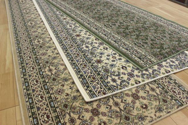 【ハイグレード】日本製高級デザイン廊下敷きカーペット/絨毯 【品名 アポロ&ポーロ&ローザンヌ】 幅80×長さ340cm