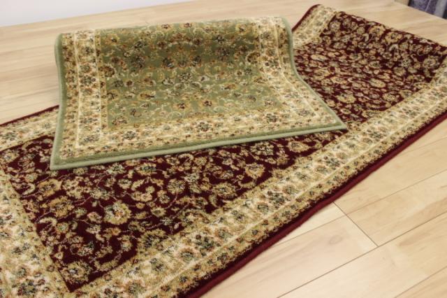 希少性あるブルガリア製ウール100%高級廊下敷きカーペットが安い!【T-3】 サイズ幅80×長さ340cm