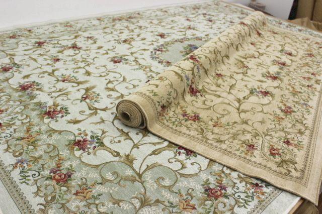 在庫処分品! ベルギー製シェニールゴブラン織り カーペット ラグ 絨毯 【品名 ブリジト見切り品】 約3畳 200×250cm